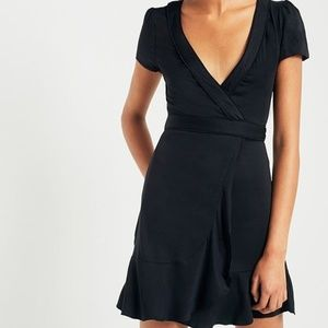 Urban Outfitters Dresses - Urban Outfitters black wrap dress
